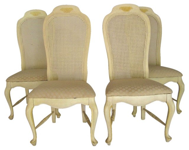 French Country-Style Chairs, Set of 4