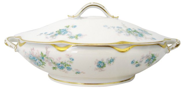Limoges Covered Vegetable Dish