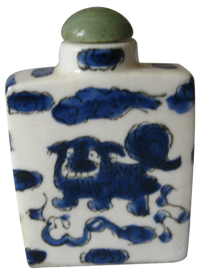 Chinese Lion Snuff Bottle