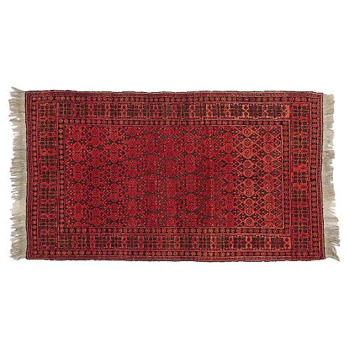 """Persian Turkoman Rug, 4'2"""" x 7'3"""""""