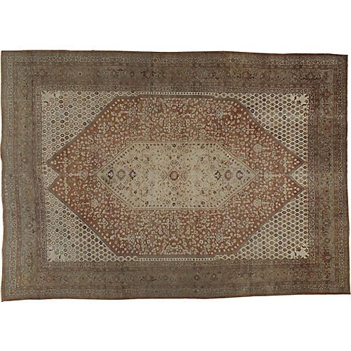 "Persian Tabriz Carpet, 9'8"" x 13'8"""