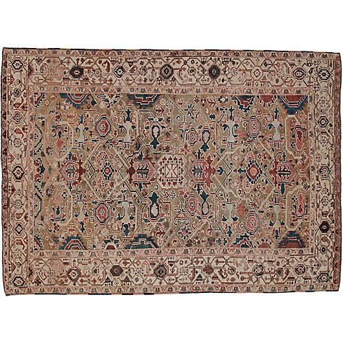 """Antique Persian Rug, 8' x 11'1"""""""