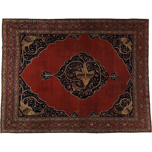 "Persian Tabriz Carpet, 9'2"" x 11'10"""