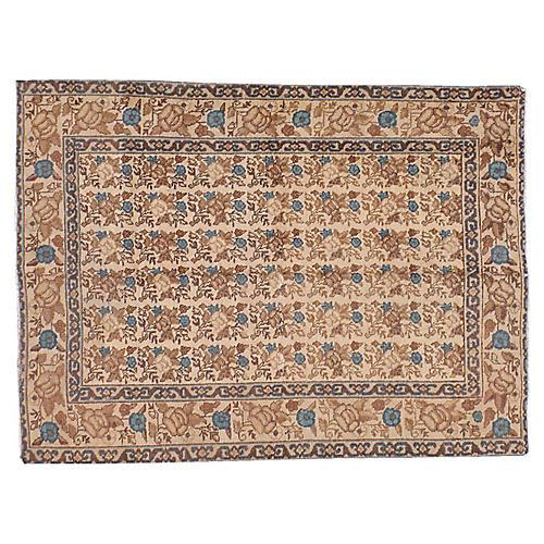 """Antique Persian Rug, 4'3"""" x 5'9"""""""