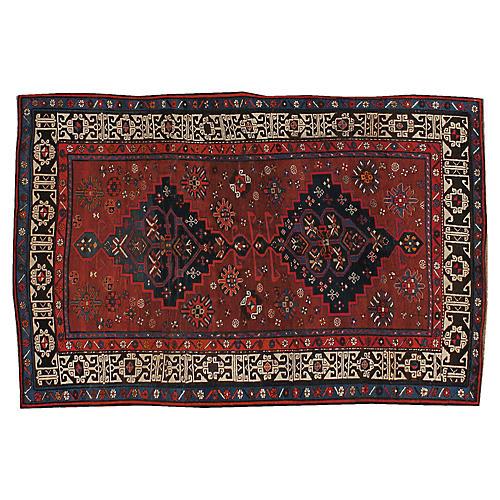 """Antique Caucasian Rug, 4'2"""" x 6'3"""""""