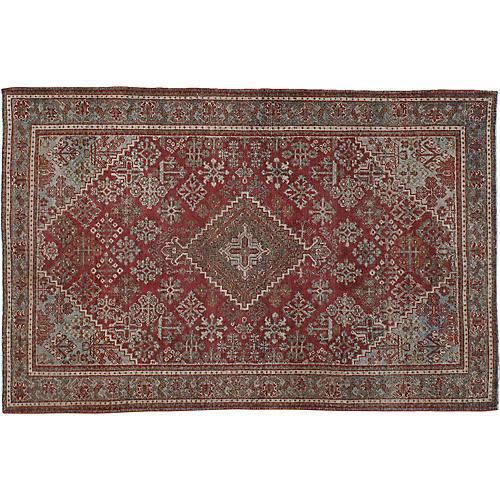 """Antique Persian Rug, 4'3"""" x 6'7"""""""