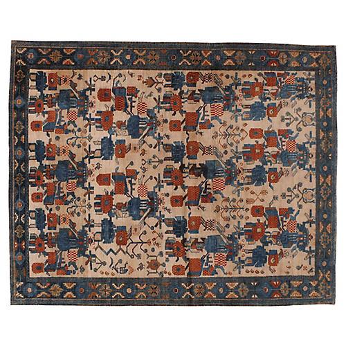 """Antique Persian Rug, 5'2"""" x 6'5"""""""