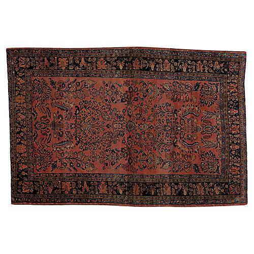 """Antique Persian Rug, 4'6"""" x 6'8"""""""