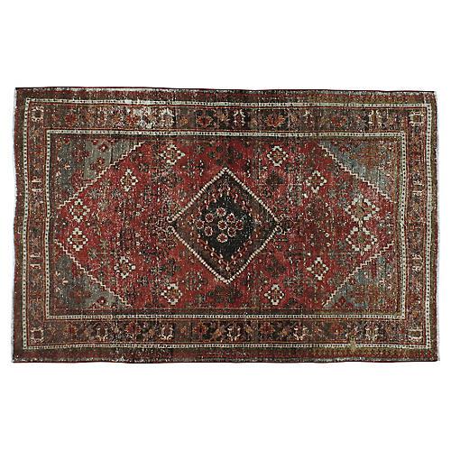 "Distressed Persian Rug, 4'2"" x 6'5"""