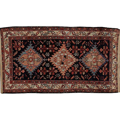 "Distressed Persian Rug, 3'5"" x 6'2"""