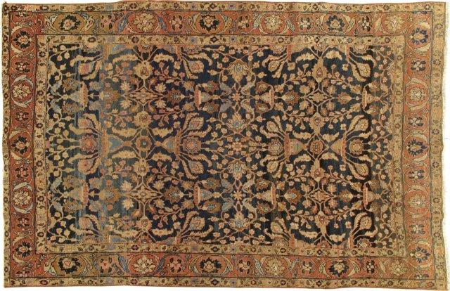 "Antique Tabriz Rug, 8'5"" x 11'9"""