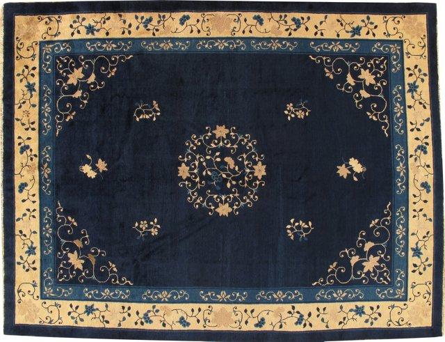 Antique Chinese Carpet, 12' x 9'