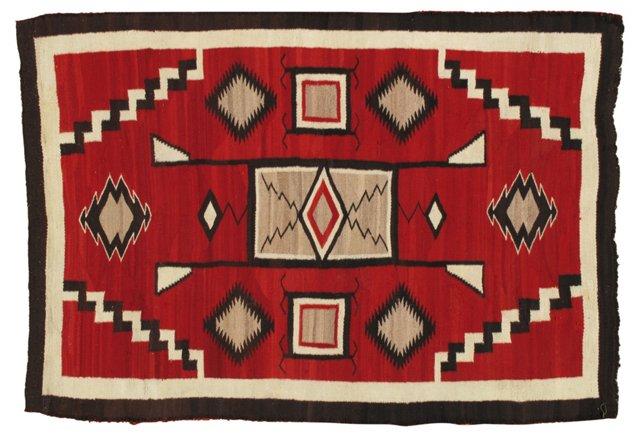 """Antique Navajo Rug, 6'7"""" x 4'6"""""""