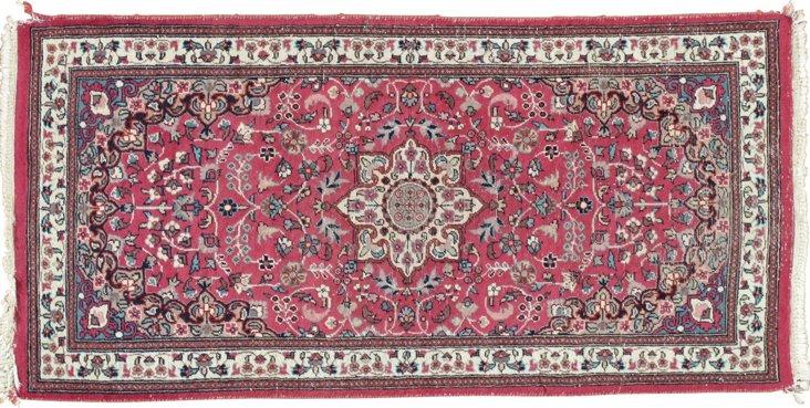 "Antique Indian Rug, 2' x 4'3"""