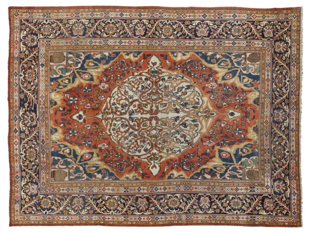 """Antique Sultanabad Carpet, 10'8"""" x 13'5"""""""