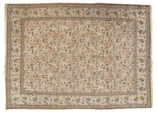 "Antique Tabriz Carpet, 8'8"" x 12'"