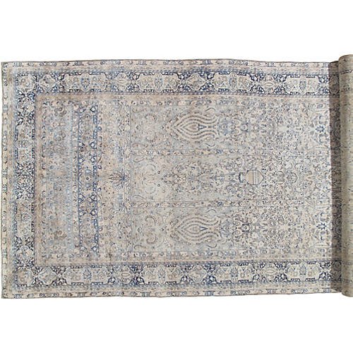 """Antique Lavar Kerman Carpet, 8'9"""" x 19'"""