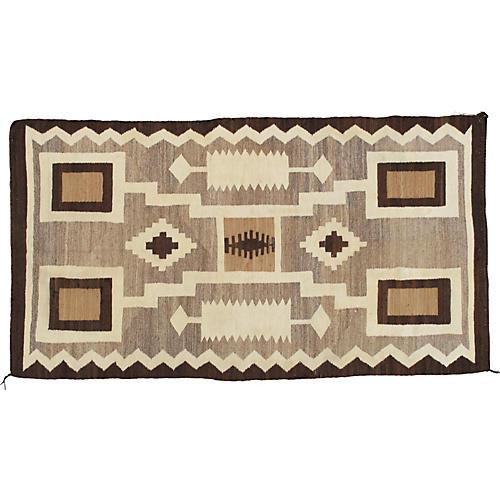 """Antique Navajo-Style Rug, 3'4"""" x 6'"""