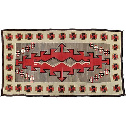"""Antique Navajo-Style Rug, 6' x 10'9"""""""
