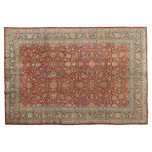 "Antique Tabriz Rug, 7'2"" x 10'6"""