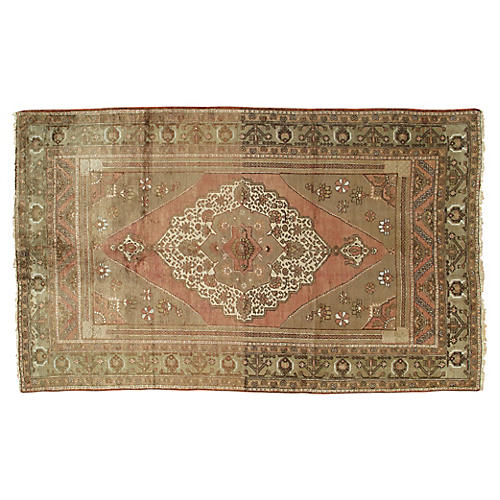 "Turkish Oushak Rug, 5'8"" x 9'4"""