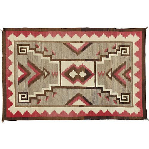 "Navajo-Style Rug, 4'3"" x 6'10"""