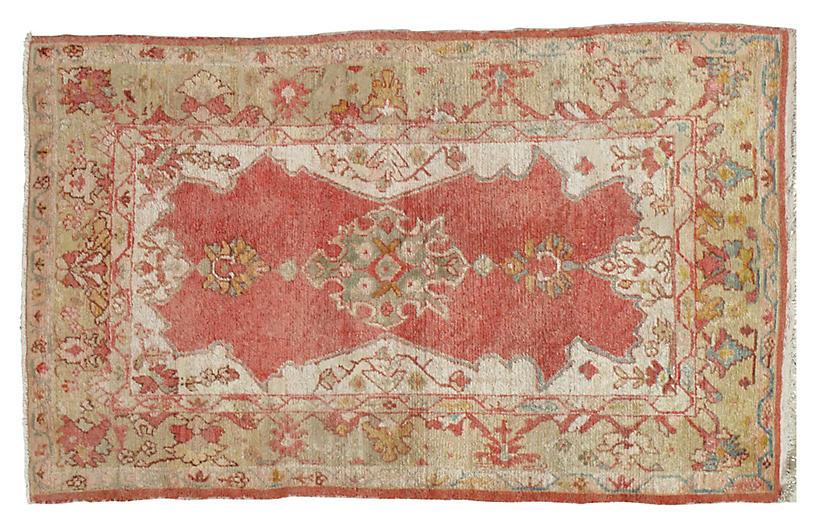 Antique Oushak Rug, 4' x 6'6