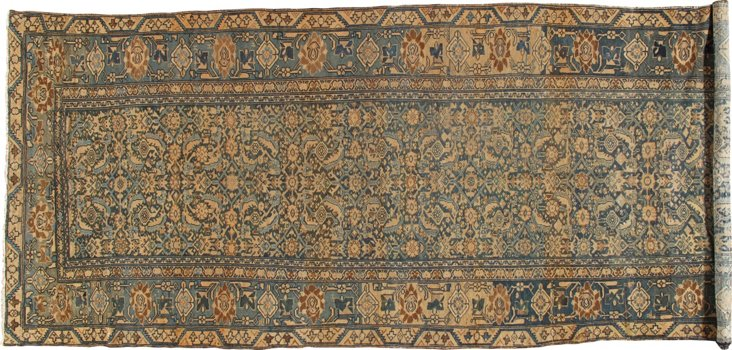 Antique Malayer Runner, 6' x 15'5""