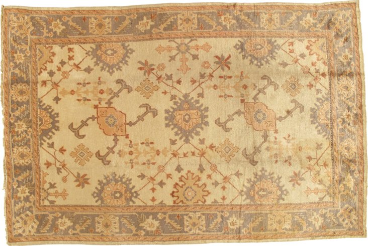 Antique Oushak, 7' x 10'