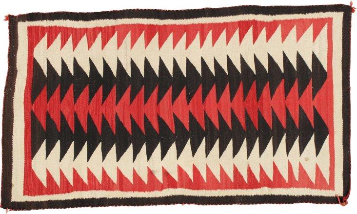 Antique Navajo Rug, 3' x 5'