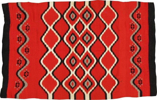 """Antique Navajo Chief Blanket, 6'9"""" x4'4"""""""