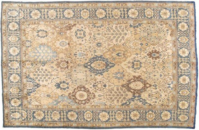 "Antique Tabriz Carpet, 9' x 12'4"""