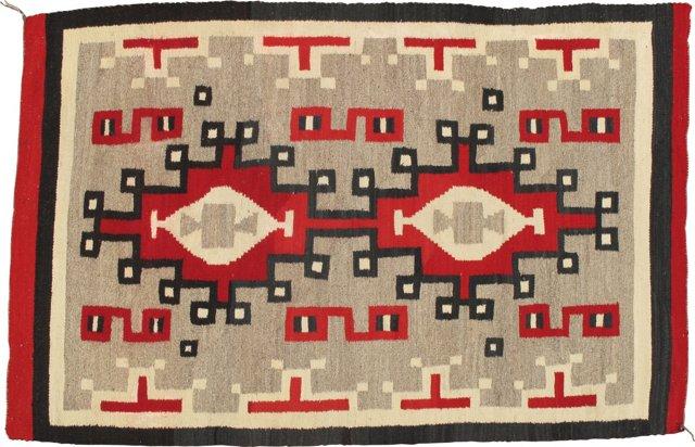 Antique Navajo Rug, 4' x 6'