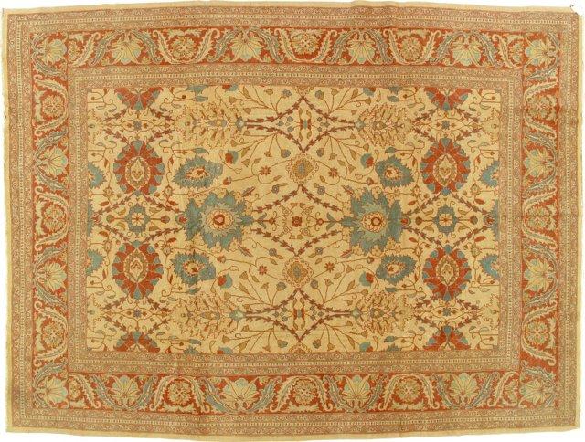"Sultanabad Carpet, 9'4"" x 12'5"""