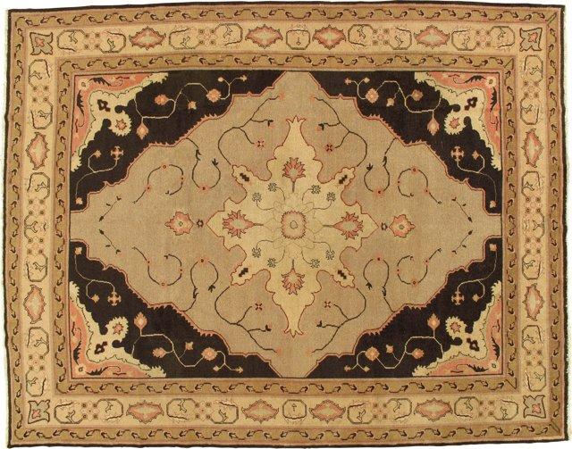 "Antique Indian Carpet, 9' x 11'6"""
