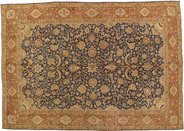 "Antique Tabriz, 8' x 11'4"""
