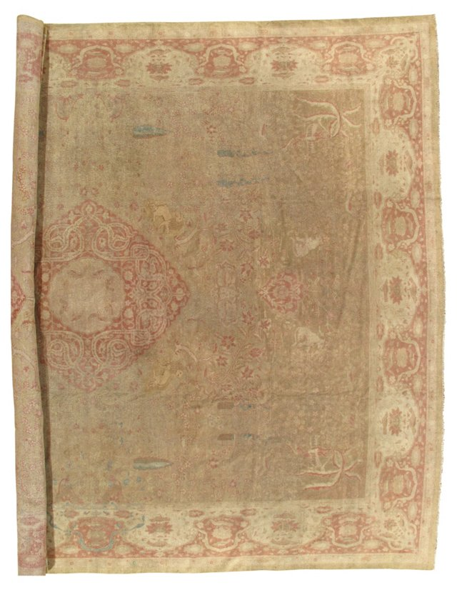 "Antique Amritsar Carpet, 12'10"" x 16'"