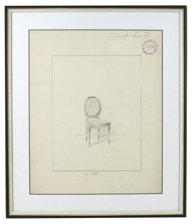 Marie Antoinette Chair Drawing