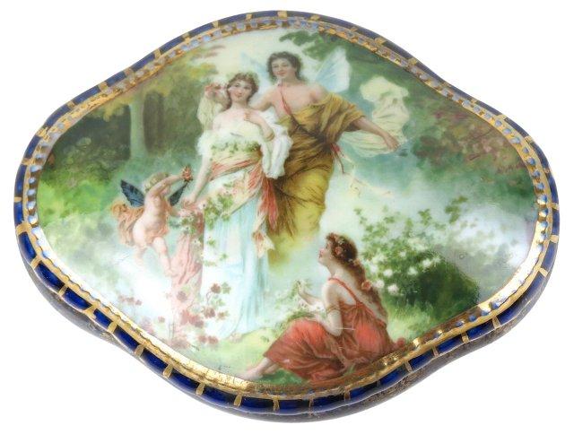 Royal Vienna Cupid Jewelry Box