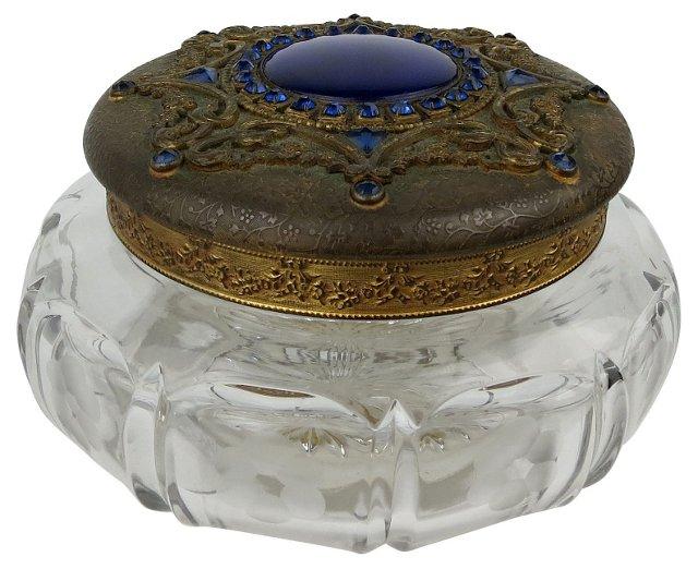 Victorian Rhinestone Powder Jar