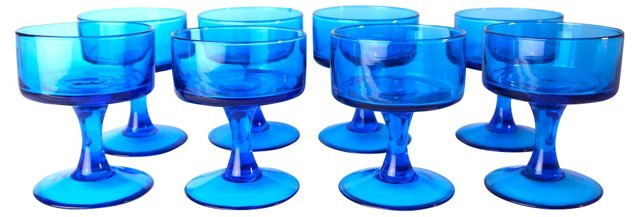 Handblown Dessert  Glasses, S/8