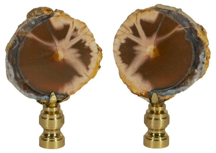 Thunderegg   Finials,  Pair