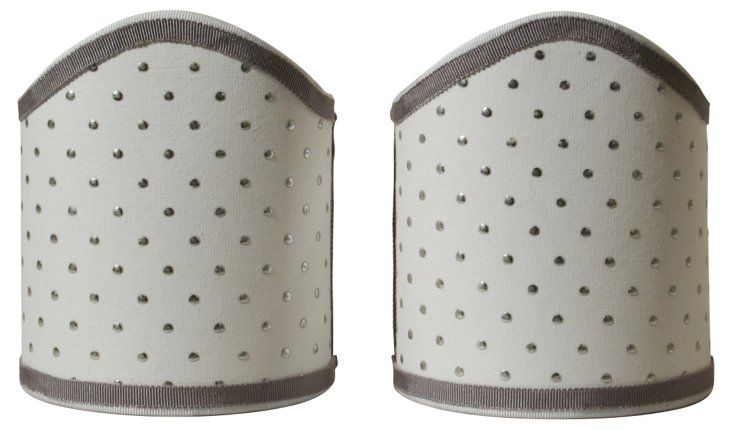 Silver Dot  Shield Shades, Pair