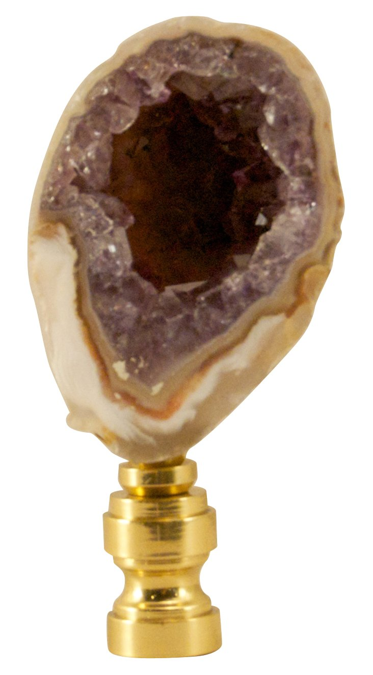 Amethyst   Geode    Finial