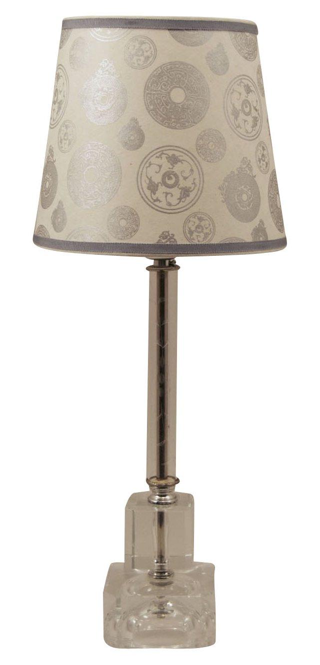 Crystal Lamp & Medallion Shade