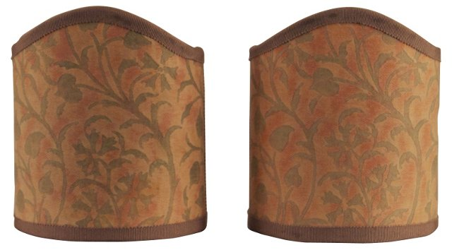 Fortuny Shield      Shades, Pair