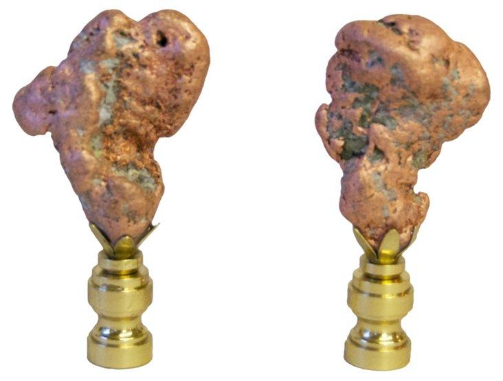 Float Copper Finials,      Pair