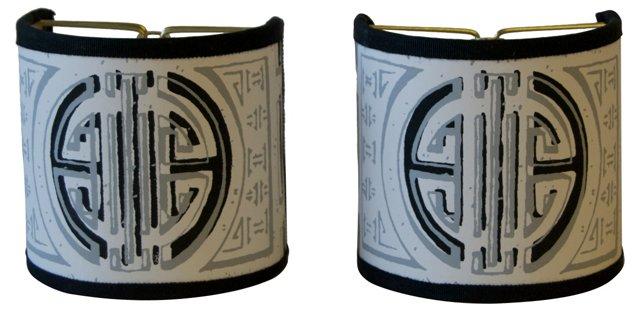 Wallpaper Shield Shades, Pair