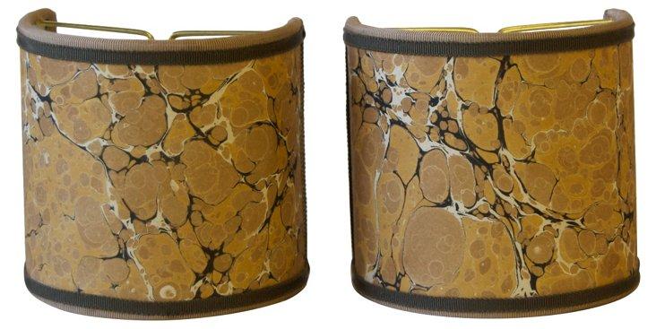 Mustard Marble Shield    Shades, Pair
