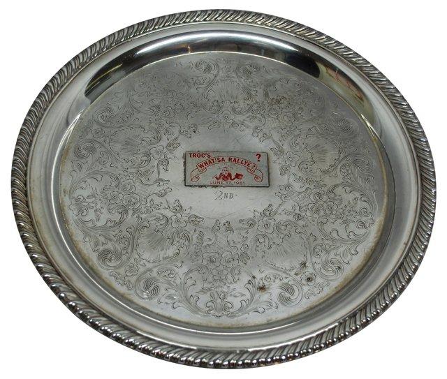 Rallye Car Trophy Plate, 1961